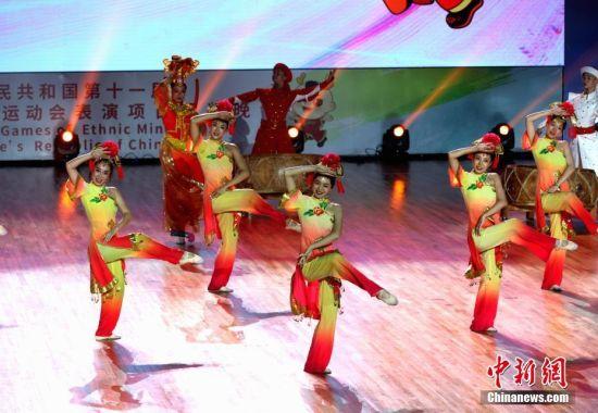 全国少数民族传统体育运动会表演项目颁奖晚会举行