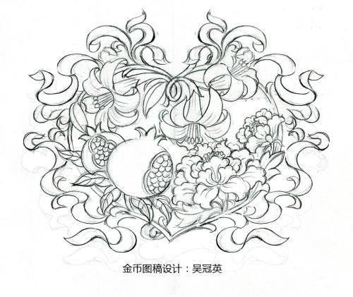 创业赚钱:新中国成立70周年纪念币设计故事:团花图案有