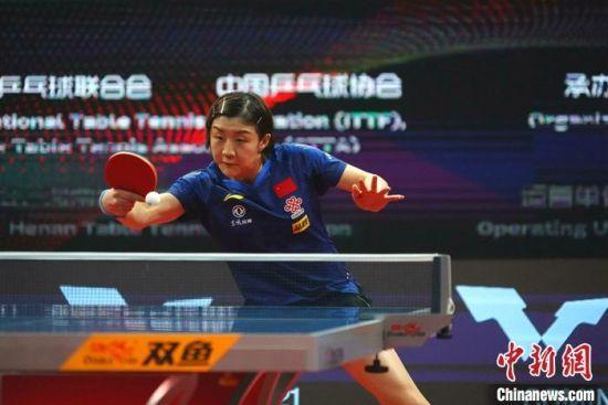 国际乒联总决赛:中国队五将晋级八强 新加坡老