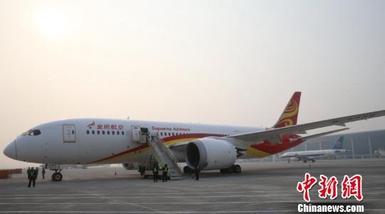 """波音787又称为""""梦想飞机"""",是波音民用飞机集团研制生产的中型双发"""